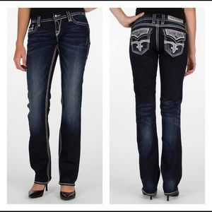 Rock Revival molly easy straight jeans size 27